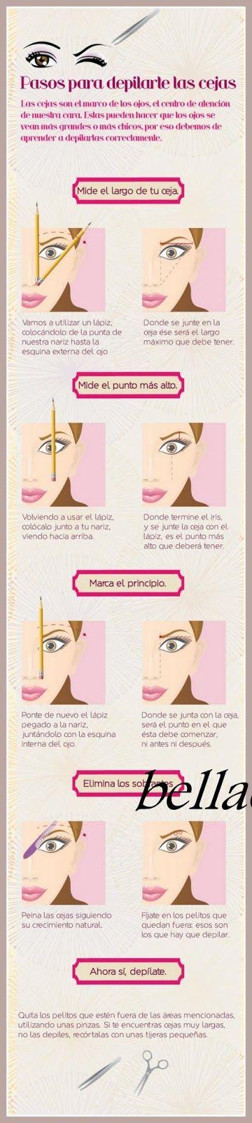 MAQUILLAJE DE OJOS : COMO DEPILARSE Y DELINEAR LAS CEJAS | Pinterest ...