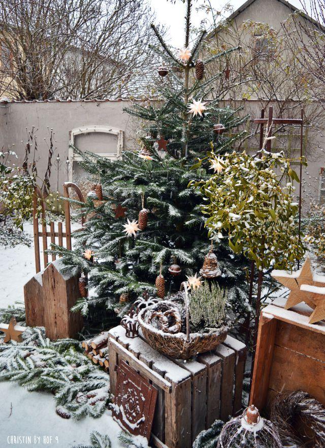 weihnachtsdekoration au endekoration im winter winterzeit winterzauber winterdekoration. Black Bedroom Furniture Sets. Home Design Ideas