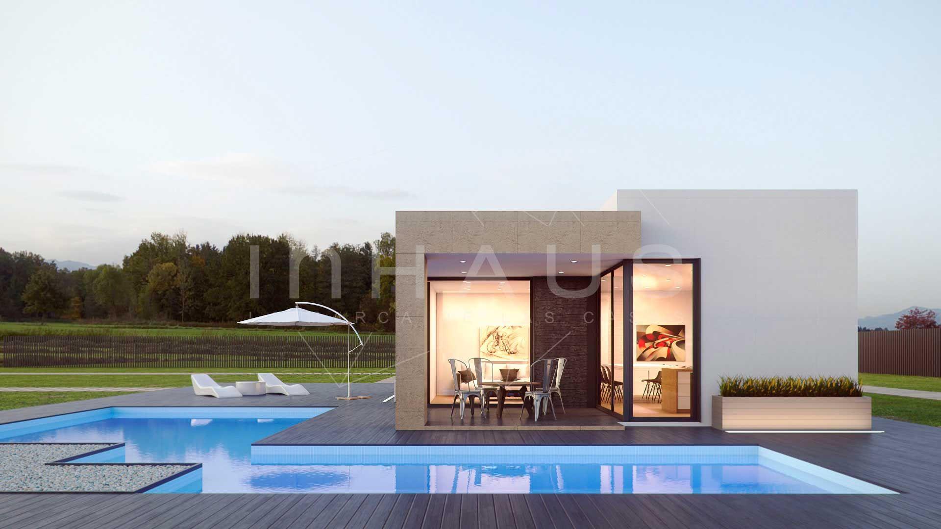 Casa prefabricada de hormigon Modelo Mijas de inHAUS 2D