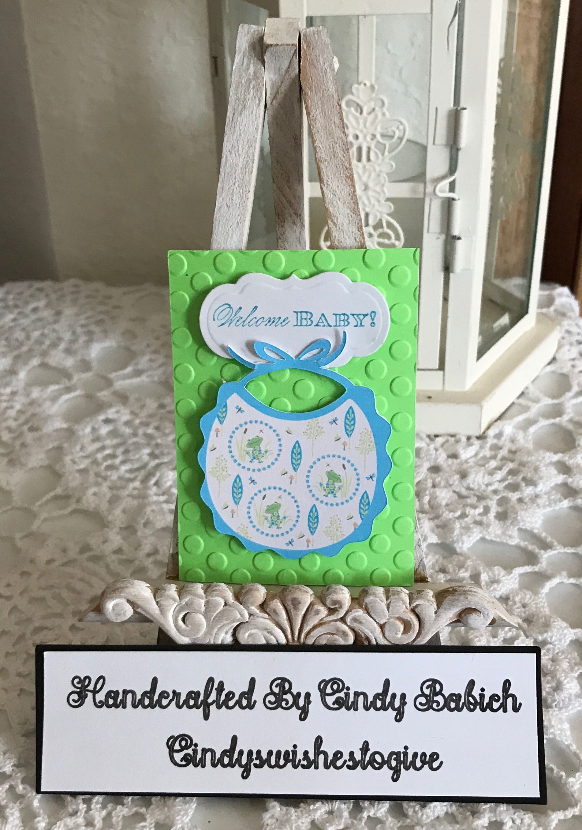 Baby boy gift card made with anna griffin 3d sentiments