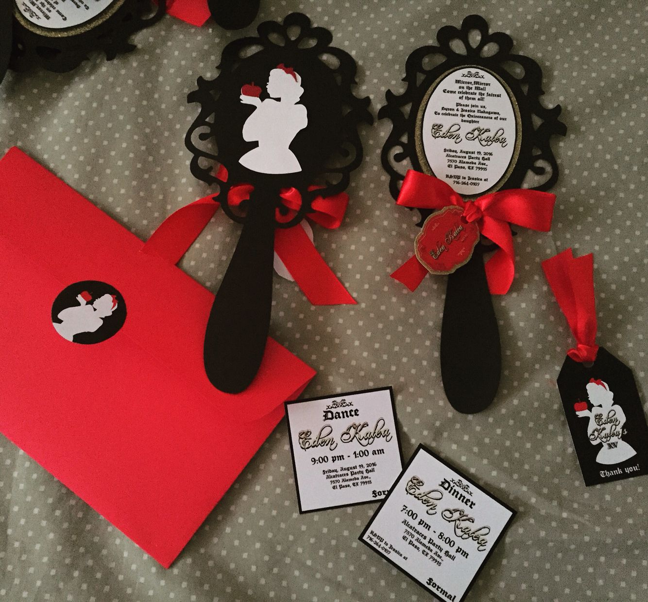 Snow White Xv by Cinderella invitations $2.5 each | Wedding ...