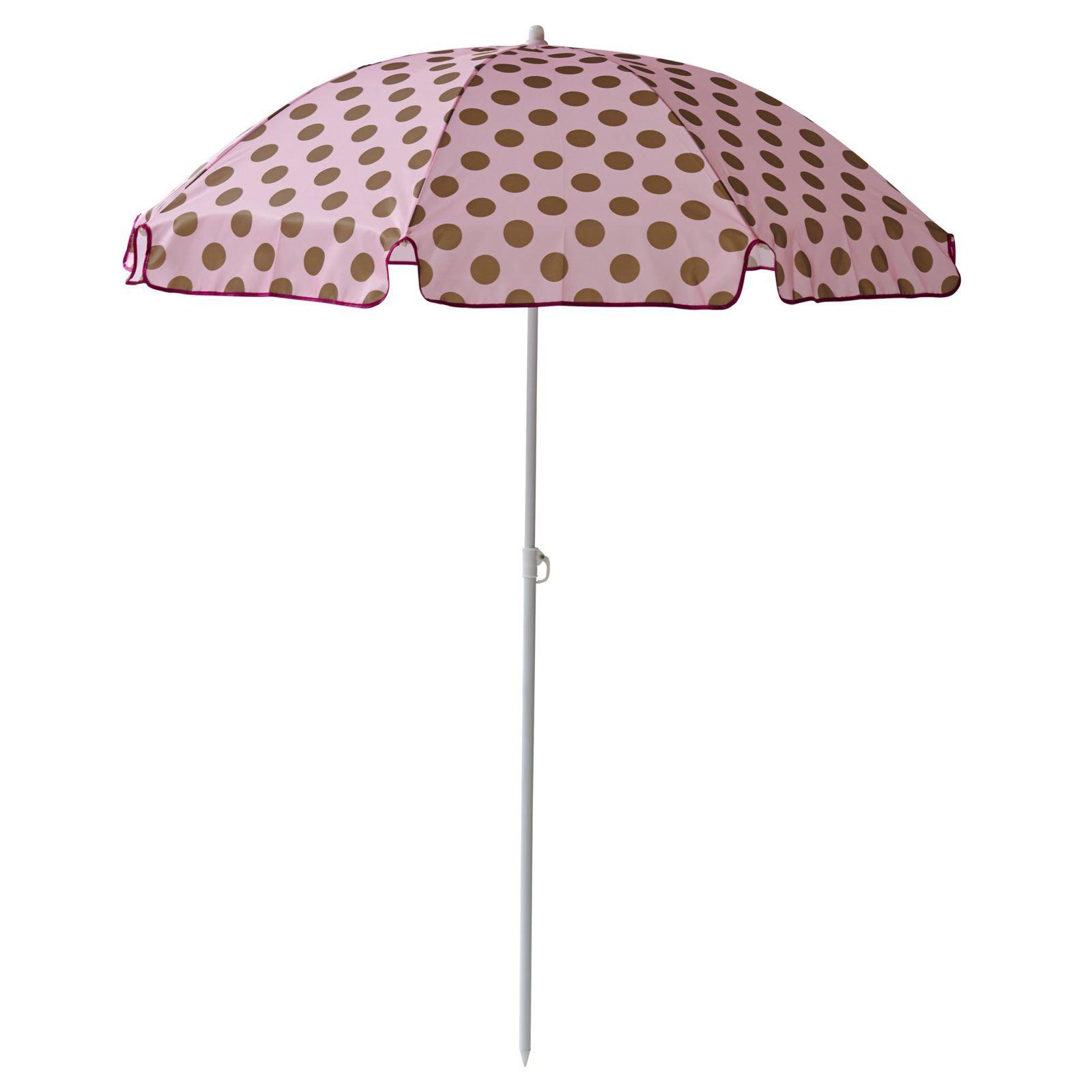 Sonnenschirm Von Rice Pink Mit Goldigen Punkten Einfach Zum Einstecken Sonnenschirm Originelle Geschenkideen Schirm