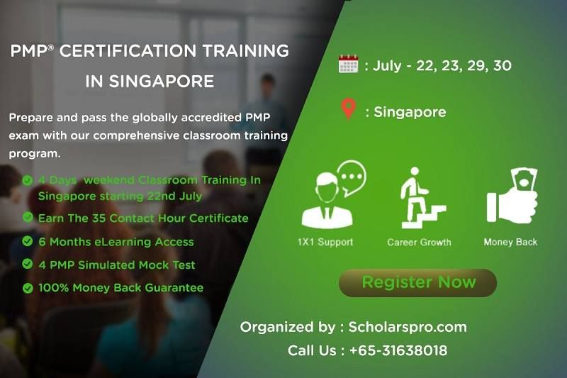 Avail Sgd 400 Discount On 4 Days Pmp Classroom Certification