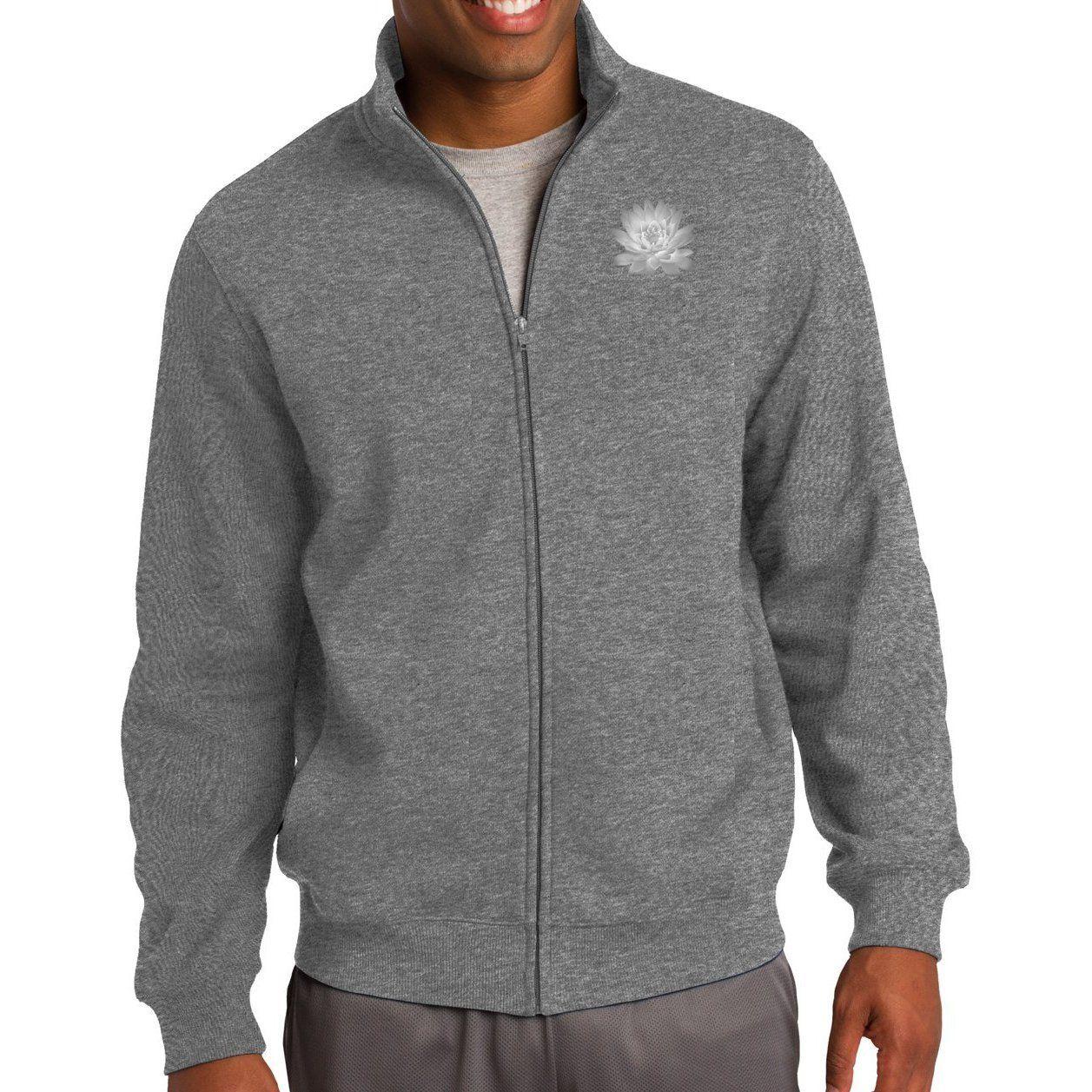 Mens Lotus Flower No Hood Zip Sweatshirt Pocket Print Comfortable Sweatshirt Zip Sweatshirt Sweatshirts [ 1257 x 1257 Pixel ]