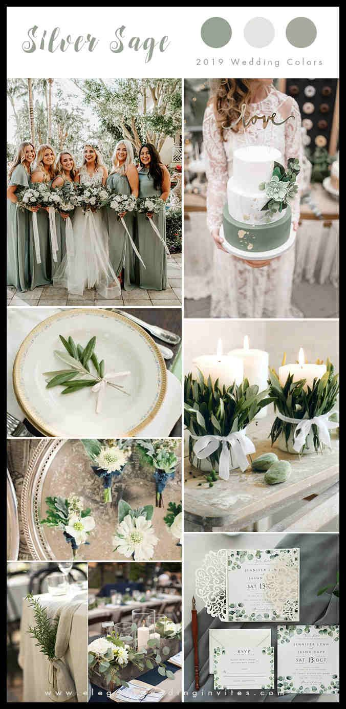Top 10 Wedding Color Trends We Expect to See in 2019 (parteone       Best Celebration Days is part of Wedding color trends -