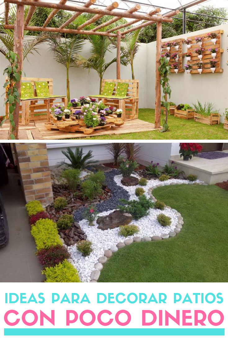 Ideas Para Decorar Patios Con Poco Dinero Decoracion Low Cost Maceteros De Jardin Ideas De Jardineria Paisajismo De Patio