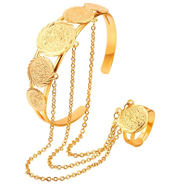 6.64$  Buy now - http://dipav.justgood.pw/go.php?t=181983701 - Coin Bracelet With Ring 6.64$