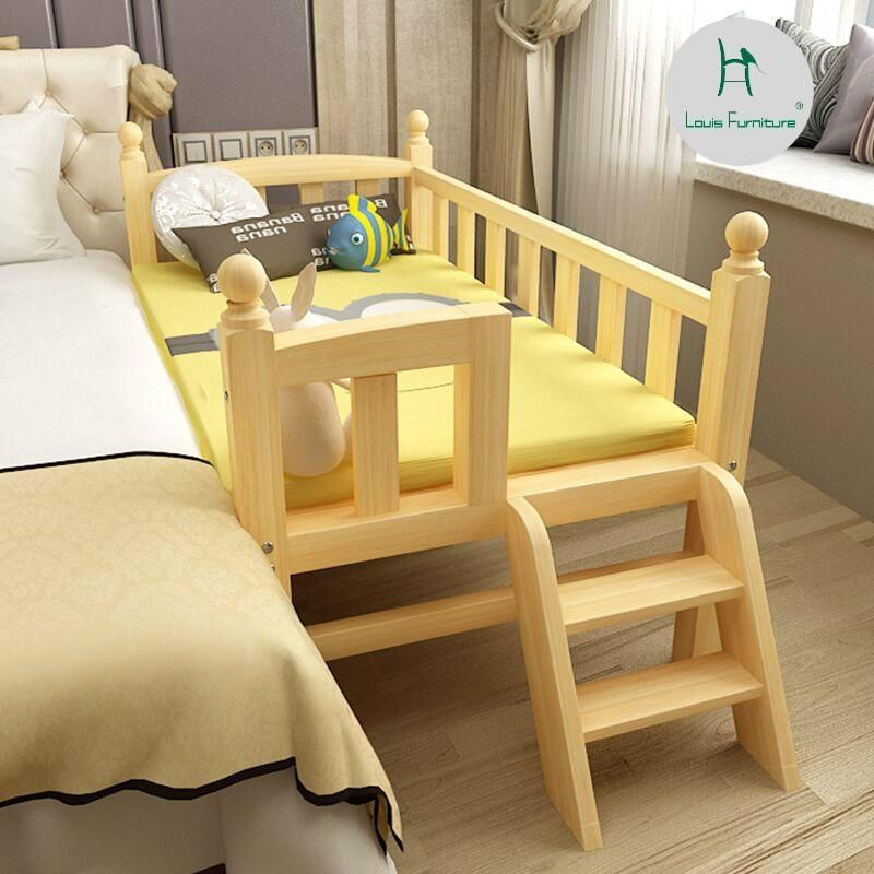 Louis Fashion Children Beds With Guardrail Pine Solid Wood Kid Beds Diy Toddler Bed Diy Sofa Bed