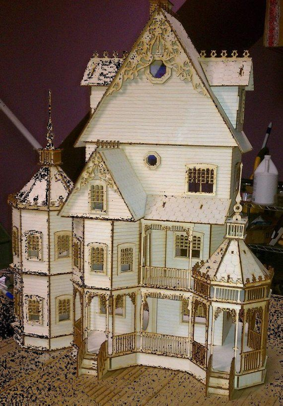Dollhouse Kit 1/24 scale #victoriandollhouse