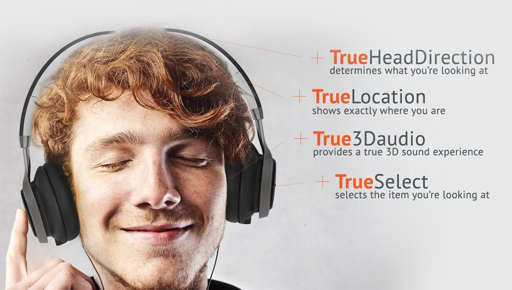 The Intelligent Headset is direction-aware, provides a true 3D sound experience