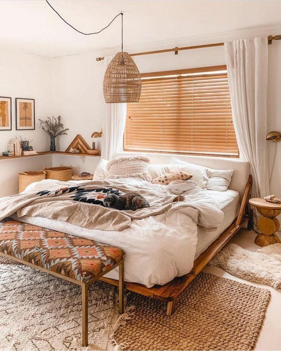32 gorgeous modern bohemian bedroom decor ideas | bedroom interior, modern bohemian bedroom