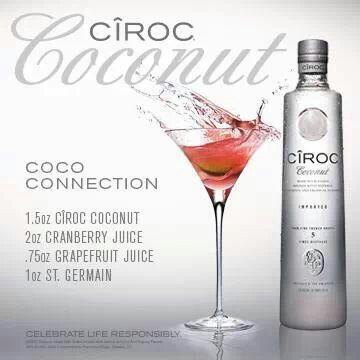 Ciroc Coconut Martini Ciroc Coconut Coconut Vodka Drinks Coconut Vodka Recipes