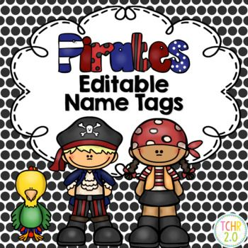 Pirate Name Tags Names Pirates Theme