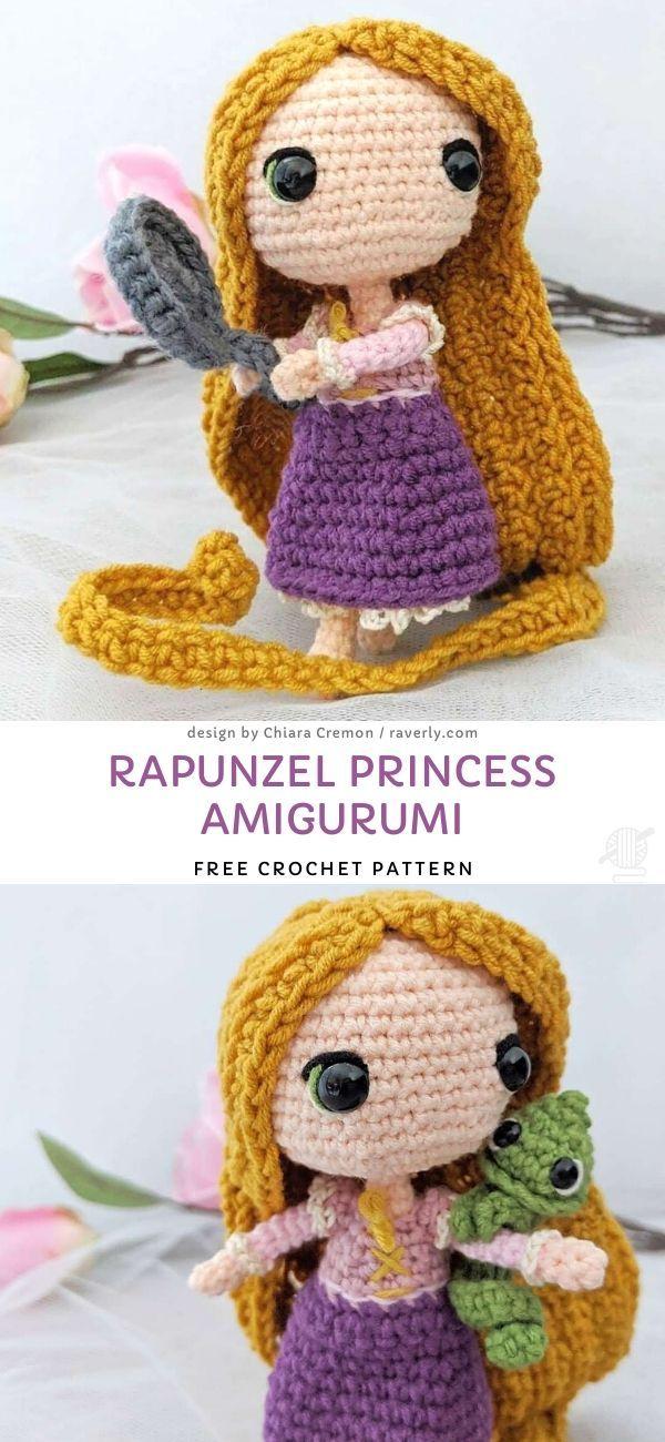 Rapunzel Princess Amigurumi Free Crochet Pattern – Disney