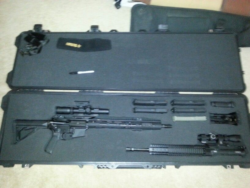 Pelican case set up