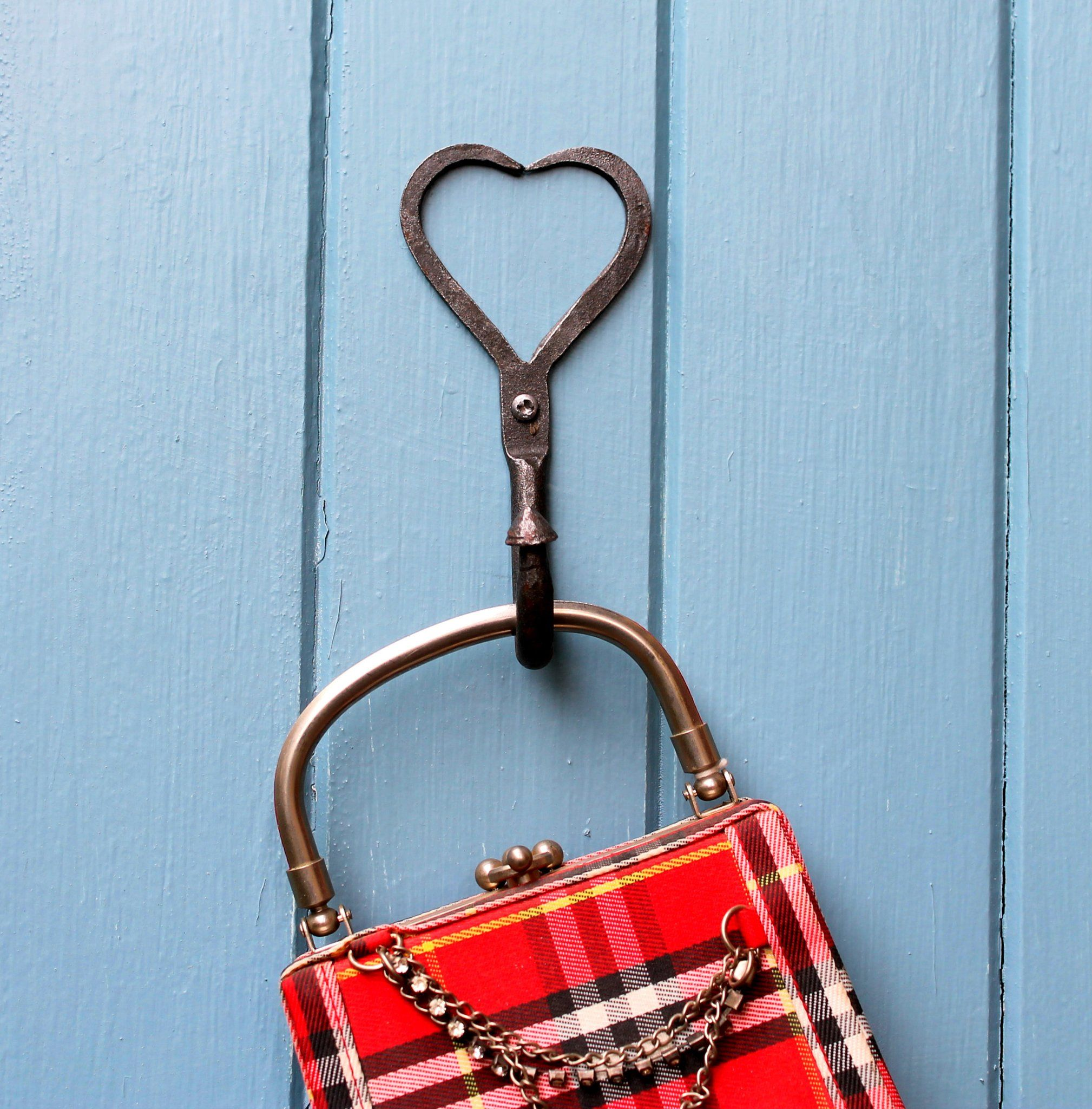 Heart Shaped Wrought Iron Coat Hook Coat Hooks Heart Shapes