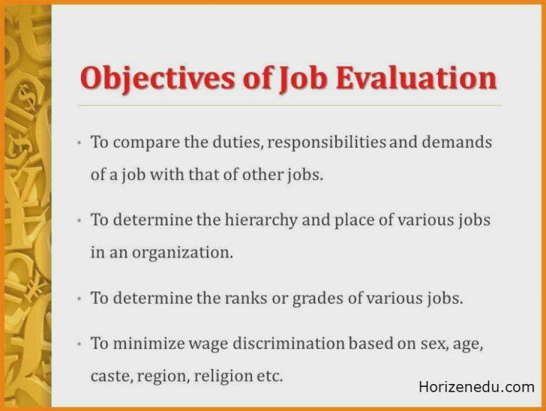 Job Evaluation Definition Methods Objective | Job