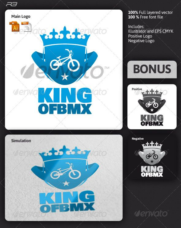 King Of Bmx Logo Letter Logo Inspiration Logo Templates Logos