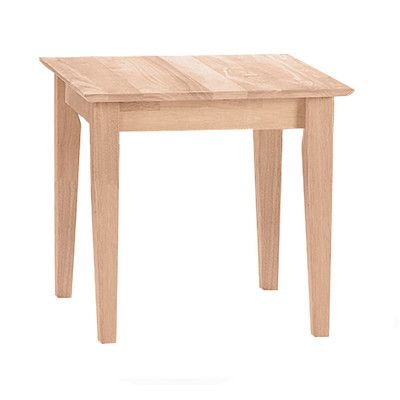 International Concepts Unfinished Wood End Table