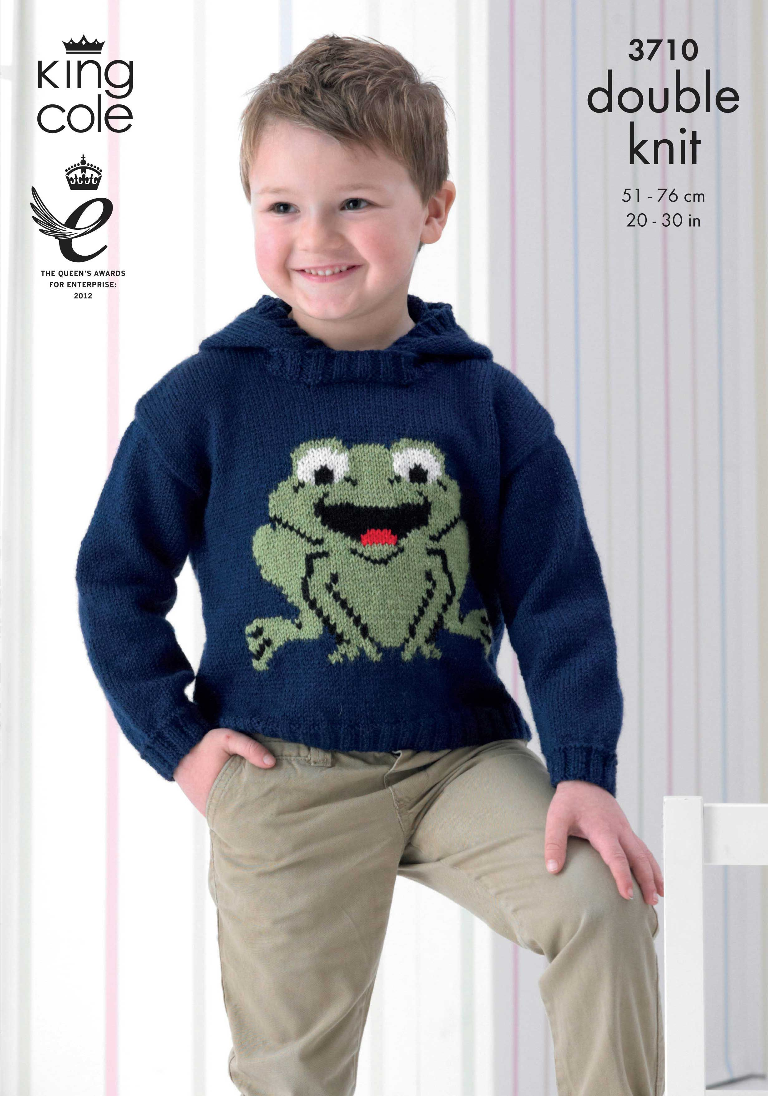 Childrens Knitted Frog Sweaters - King Cole | Pricewise DK ...