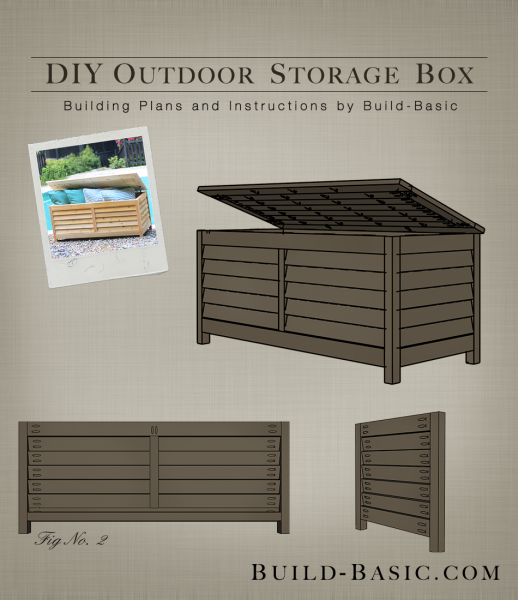 build an outdoor storage box get the diy building plans at buildbasic