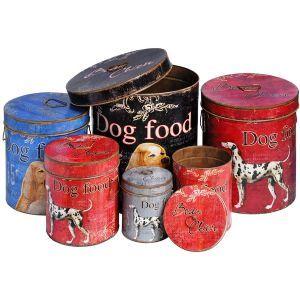 Vintage Set Of Six Dog Food Bins Dog Food Bin Vintage Tin Dog Food Recipes