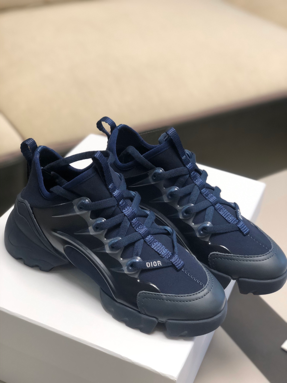 Dior D Connect Leather Neoprene Sneaker 35 To 41 A151PP450