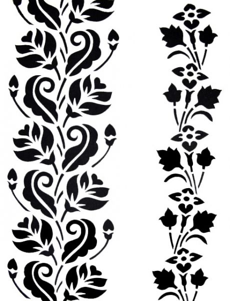 Motivos indianos silhouette patterns pinterest