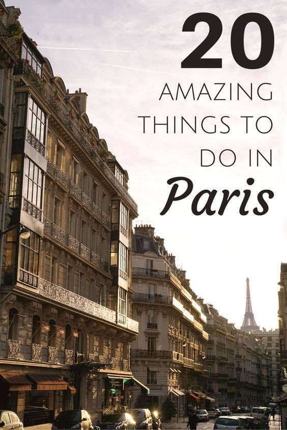 20 amazing things to do in Paris. Plan the perfect trip to the capital of France and see all the outstanding highlights. Click for more