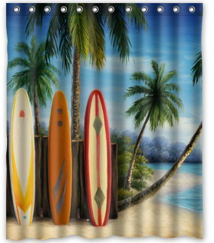 Standardstore Custom Amazing Surfboards Shower Curtain 60 X 72 You Can Get Additional Details At The With Images Shower Curtain Sizes Fabric Shower Curtains Surfboard