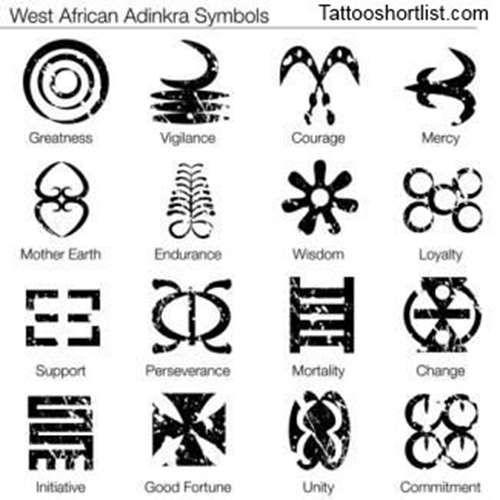 8776ae4a1b436 West African Tattoo Symbols - Tattoo Shortlist   Symbolism   African ...