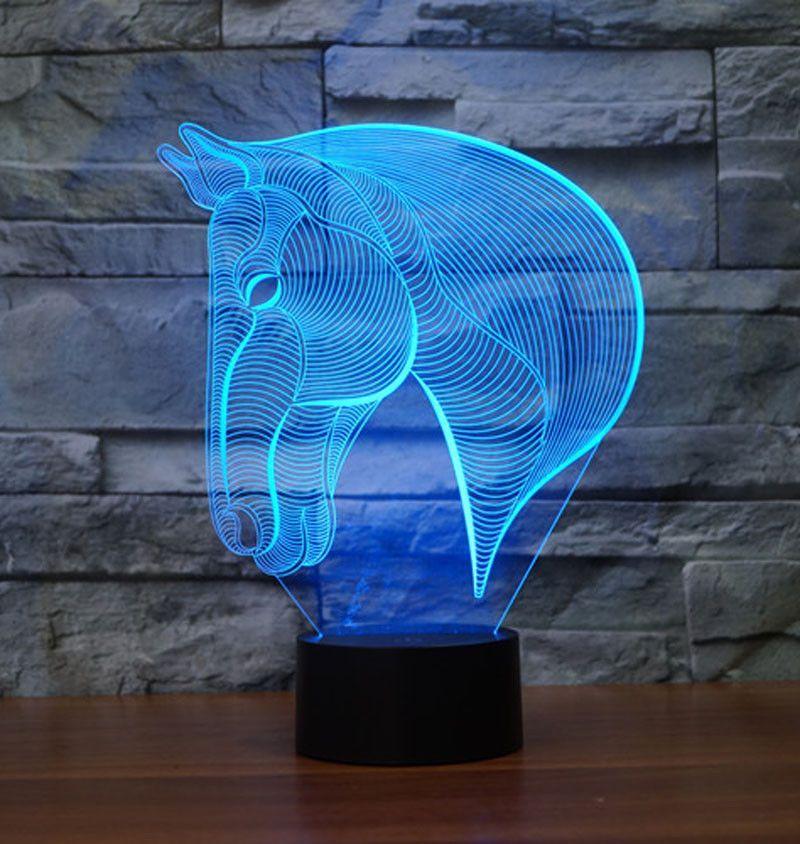 Horse Head 3d Illusion Lamp Horse Lamp 3d Night Light 3d Illusion Lamp