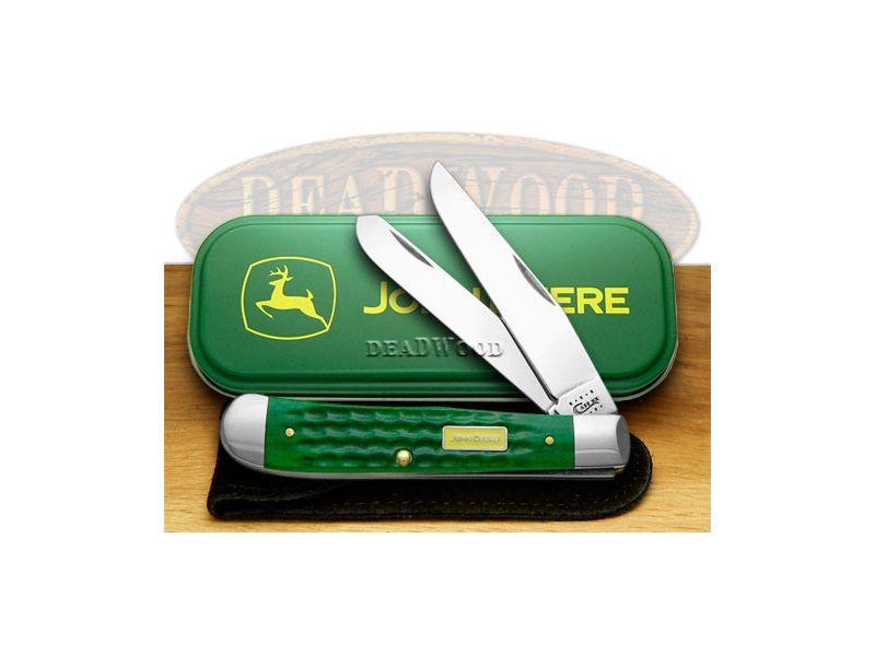 CASE XX John Deere Green Jigged Bone Trapper Pocket Knife - CA15707   15707 - 021205157078