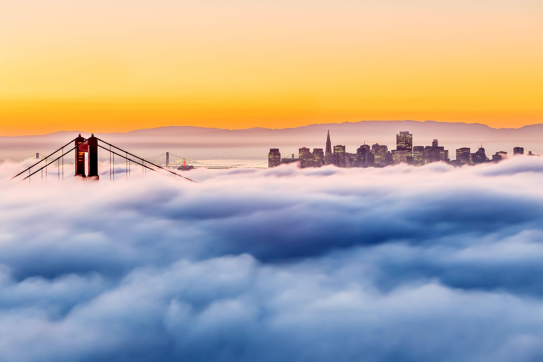 Picture Of Fog Over The Golden Gate Bridge In San Francisco California Golden Gate Bridge Around The Worlds Landscape