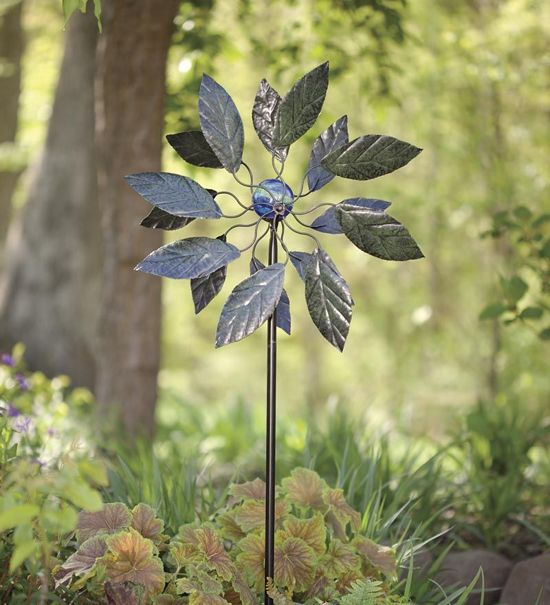 Inspired By Nature, Our Solar Leaf Metal Wind Spinner Will Compliment The  Flora And Fauna .