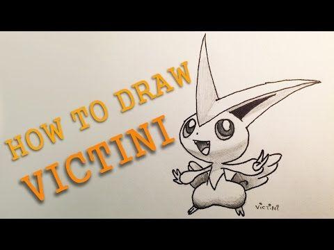 How To Draw Pokemon Victini Slow Tutorial Pokemon Drawings Pokemon Drawings