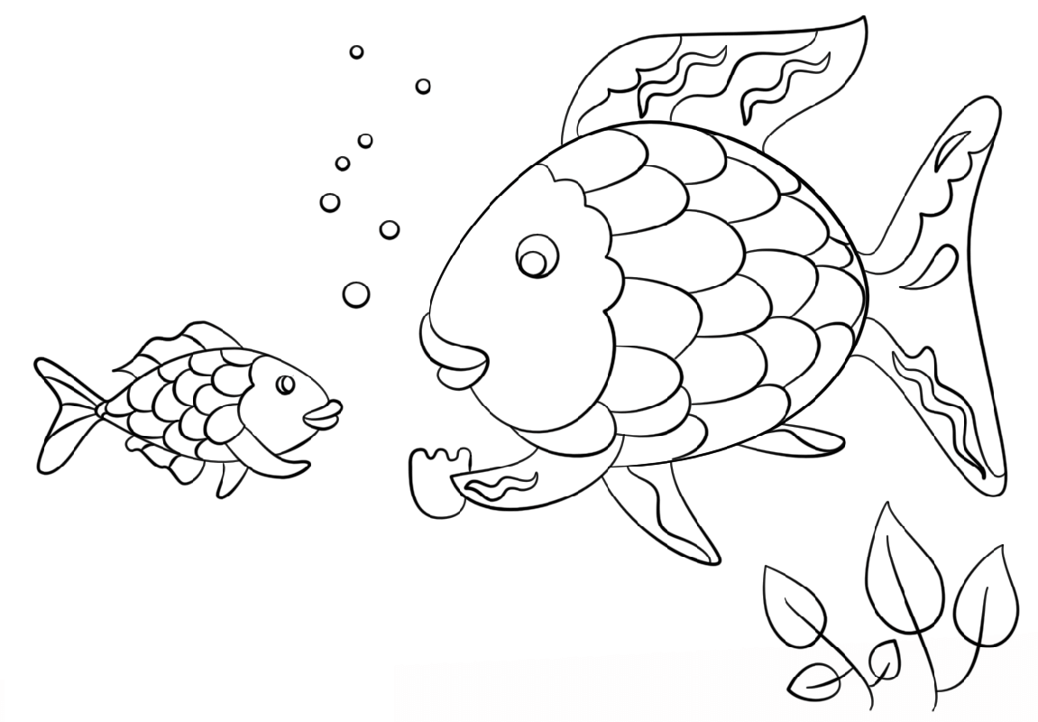 Rainbow Fish Scale Coloring Printable Educative Printable Fish Coloring Page Rainbow Fish Coloring Page Rainbow Fish