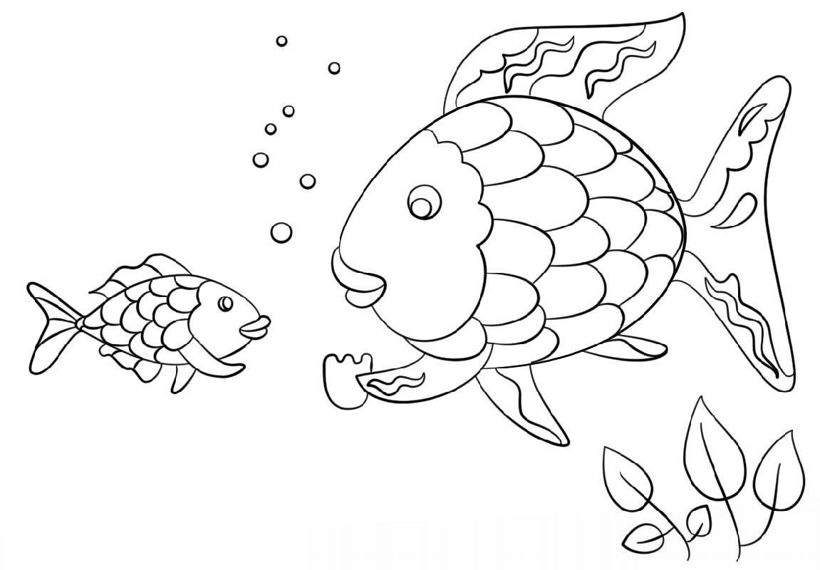Rainbow Fish Scale Coloring Printable  Educative Printable