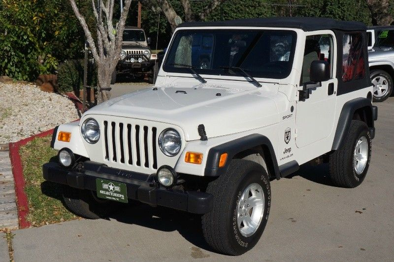 2004 Stone White Jeep Wrangler Sport 106k Miles 5 Speed Manual Transmission Soft Top Price Coming Soo 2004 Jeep Wrangler Jeep Wrangler White Jeep Wrangler