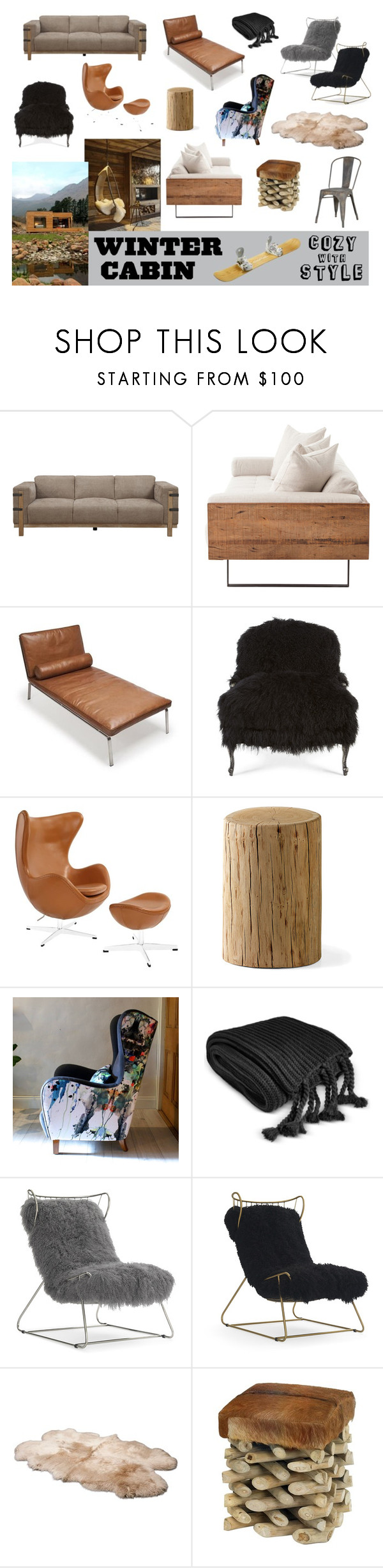 """Modern Cabin"" by staggemeier-amaral ❤ liked on Polyvore featuring interior, interiors, interior design, home, home decor, interior decorating, Old Hickory Tannery, Charter Club, Mitchell Gold + Bob Williams and UGG"