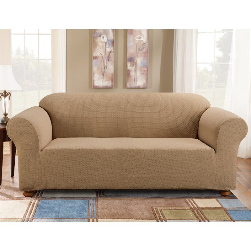 Sure Fit Simple Stretch Subway Sofa Slipcover Taupe