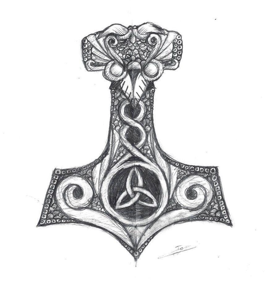 The Hammer of Thor | Mjolnir tattoo, Norse tattoo, Thor