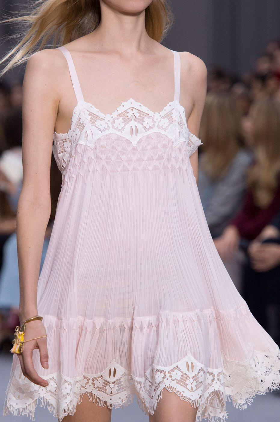 runwayandbeauty:  Detail at Chloé Spring 2016 Ready to Wear, Paris Fashion Week.