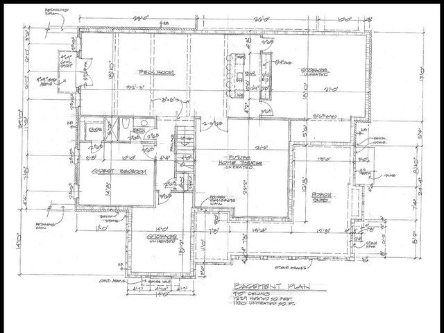 Original Elberton Way Walkout Basement Plan Elberton Basement Plans House Plans