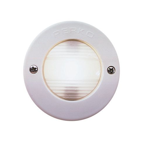 Perko Vertical Mount Stern Light W White Bezel Marine Lighting Navigation Lights Mounting
