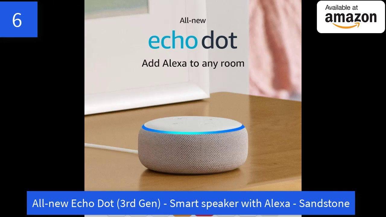 All New Echo Dot 3rd Gen Smart Speaker With Alexa Sandstone