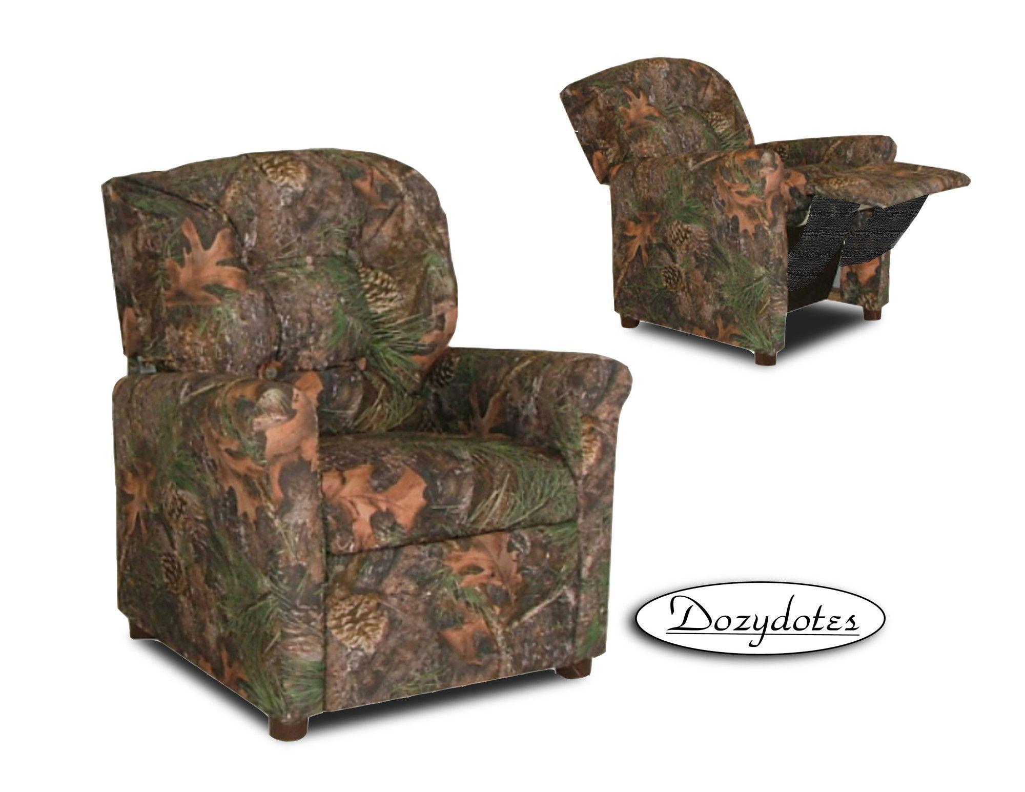 toddler camo recliner chair