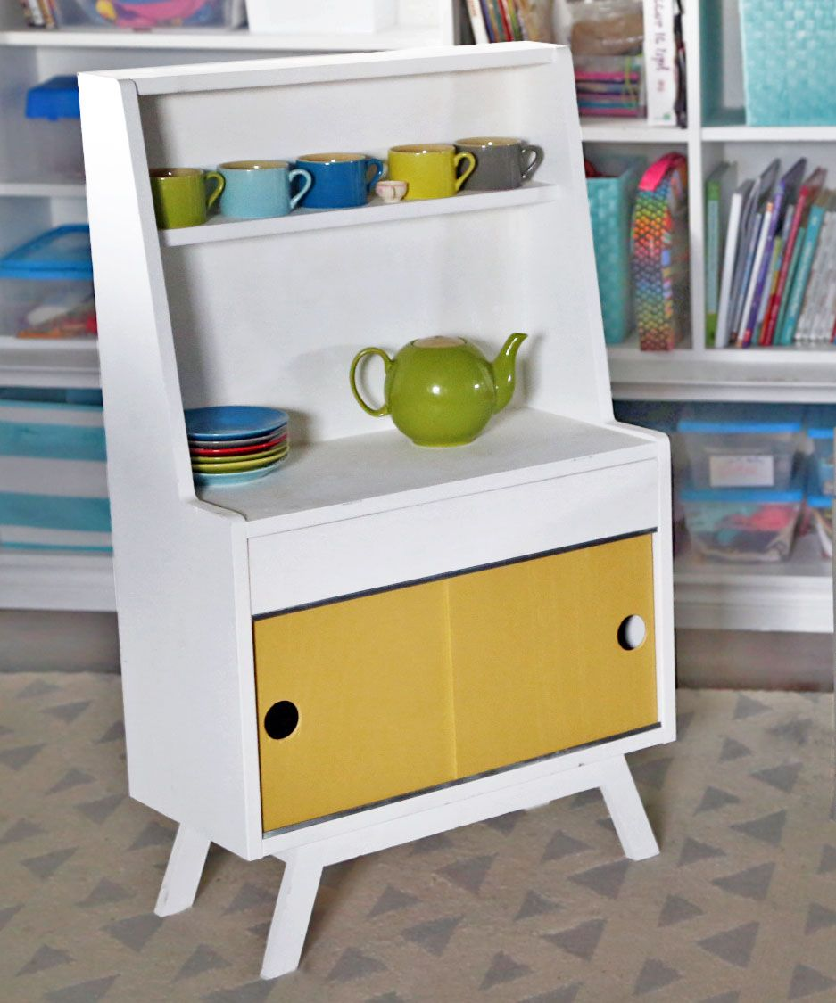 DIY Retro Kitchen Dish Hutch | Ana White DIY projects (toys for ...