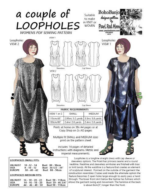 Pearl Red Moon Art: a couple of Loopholes   Sewing Patterns ...