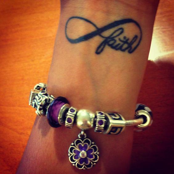 16 Cute Charm Bracelet Tattoos: Infinity Wrist Tattoo And Pandora Bracelet :)
